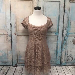 Free People Shimmer Tiered Lace Dress